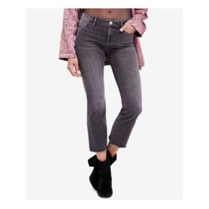 FREE PEOPLE  Black Zippered Pocketed Skinny Jeans